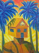Sun Rays Pastels Originals - Happy Home by Dennis Goodbee