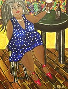 Night Out Paintings - Happy Hour by Reba Baptist