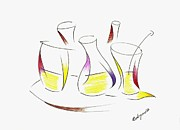 Color Pencil Drawings - Happy Hours by Mario  Perez