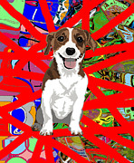 Jack Russell Digital Art - Happy Jack by R L Nielsen
