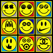 Happy Logos Print by Tony Rubino