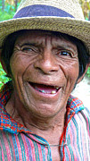 Mayan Character Posters - Happy Mayan Indian  Poster by OpposableThumbnails EyeBrowses