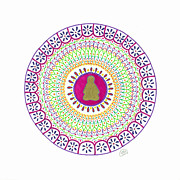Vibrant Drawings - Happy Meditation by Signe  Beatrice