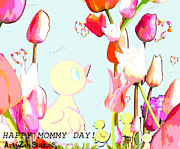 Madre Posters - Happy Mothers Day Poster by ArtyZen Studios