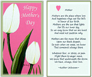 Unconditional Love Prints - Happy Mothers Day Print by Barbara Griffin