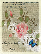 Gratitude Card Posters - Happy Mothers Day Card Poster by Debra     Vatalaro