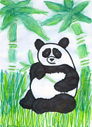 Endangered Species Art Greeting Card Photo Framed Prints - Happy Panda O.O. Framed Print by Ausra Paulauskaite