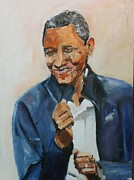 Obama Paintings - Happy Presedent by Udi Peled