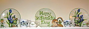 Lion And Lamb Posters - Happy St Patricks Day  Poster by Nancy Patterson