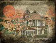 Print On Acrylic Posters - Happy Thanksgiving Poster by Barbara R MacPhail