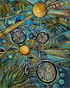 Bicycles Paintings - Happy Trails by Susi LaForsch