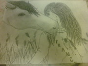 Kisses Drawings - Happy trails to you by Danita  Higham