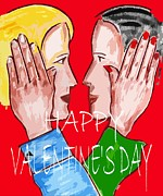 Romance Mixed Media Prints - Happy Valentines Day 6 Print by Patrick J Murphy
