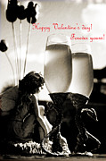 Flutes Photos - Happy Valentines day greeting card by Eti Reid