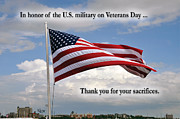 Glory Honor Posters - Happy Veterans Day Poster by Cheryl McClure