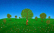 Happy Walking Tree Print by Sanely Great