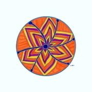 Hara Chakra Flow Print by Kaia Lyngroth