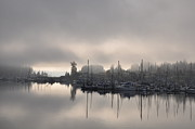 Grey Clouds Photo Originals - Harbor at Dawn 2 by Tanya  Searcy