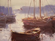 Boats In Harbor Originals - Harbor Boats by Vahe Yeremyan