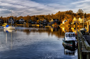 Boats In Harbor Prints - Harbor Light Print by Mark Papke