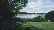 Cape Cod Paintings - Harbor View Morning by OMalley Keyes