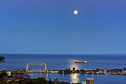 Duluth Art - Harbor View Night by Bryan Benson