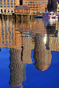 Boston Harbor Photos - Harborside Reflections 2 by Joann Vitali