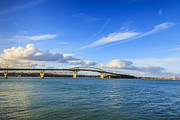 White Clouds Prints - Harbour Bridge Auckland New Zealand Print by Colin and Linda McKie