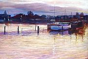 Lights Pastels - Harbour Lights - Apollo Bay by Lynda Robinson