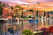 Harbour Sunset Print by Dominic Davison
