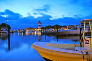 Head Harbour Lighthouse Prints - Harbour Town Dusk Print by Douglas ODonnell