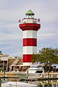 Head Harbour Lighthouse Prints - Harbour Town Lighthouse Print by Kelly Carey