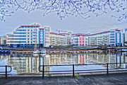River Avon Prints - Harbourside Flats Print by Brian Roscorla