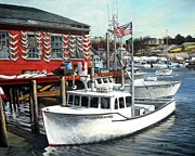 Hard Merchandise Rocky Neck Print by Eileen Patten Oliver