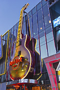 Hard Rock Cafe Building Posters - Hard Rock cafe entertainment center Las Vegas Nevada Poster by Gino Rigucci