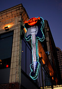 City Scape Metal Prints - Hard Rock Cafe Metal Print by Nick Gustafson