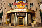 Cleveland Framed Prints - Hard Rock Cafe Framed Print by Robert Harmon