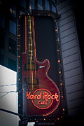 Midtown Posters - Hard Rock Guitar NYC Poster by Teresa Mucha