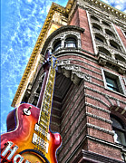 Hard Rock Cafe Building Posters - Hard Rock Phila Poster by Frank Savarese