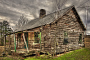 Old Farm Houses Prints - Hard Times Print by Reid Callaway