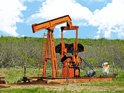 Hard-working Pump Jack Print by CJ Grant