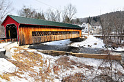 Catherine Reusch Daley Fine Artist Photos - Hardwick Covered Bridge  by Catherine Reusch  Daley