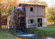 Old Mill Scenes Photos - Hardy Mill in Autumn by Ed Cooper