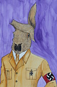 Hitler Paintings - Hare Hitler by Owen Bright