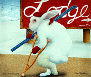 Winter Sports Paintings - Hare-line Fracture... by Will Bullas