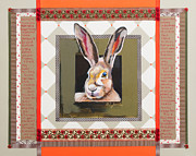 Hare Mixed Media Prints - Hare Speaks Print by Laura Joseph