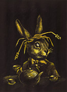 March Hare Framed Prints - Hare Framed Print by Suzette Broad