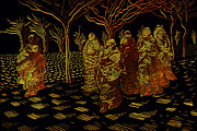 Concubine Digital Art Metal Prints - Harem Metal Print by Siyavush Mammadov