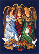 Lion Lamb Posters - Hark the Herald Angels Sing Poster by Lynn Bywaters