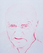 Elderly Drawings - Harlands Portrait by PainterArtist FINs husband Maestro